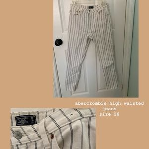 striped high waisted skinny jeans!